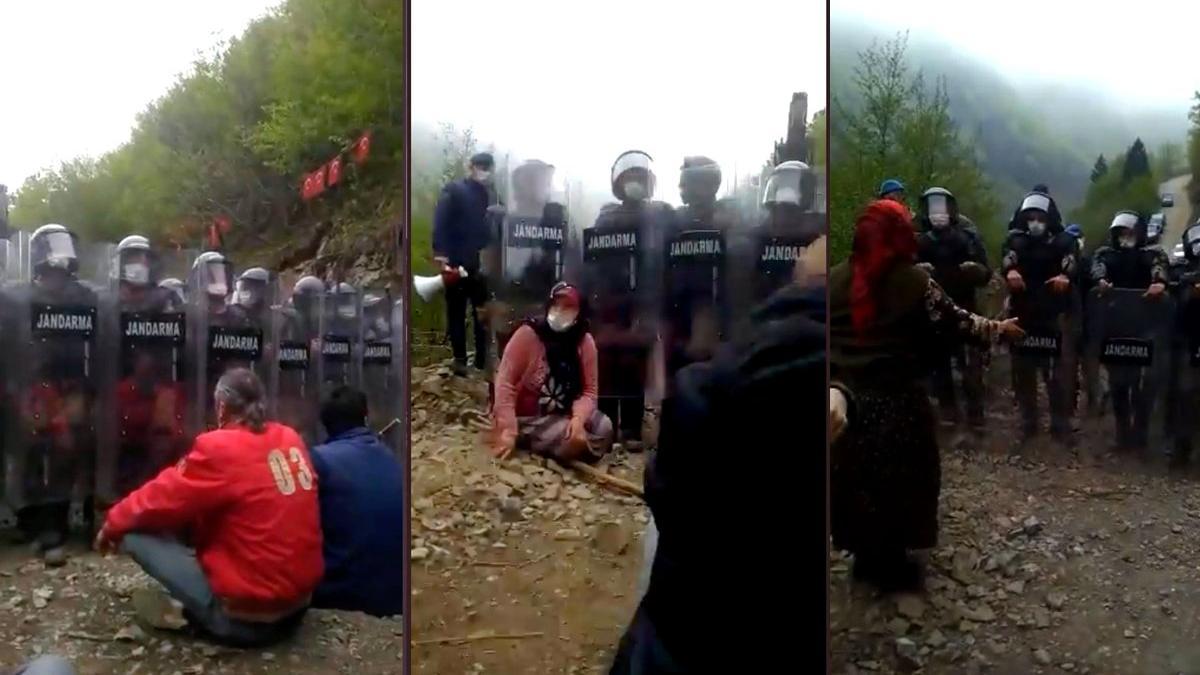 İşkencedere'de, dozerli çalışmalar jandarma korumasında başladı