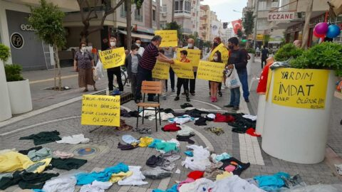 Mersin'de tek kişilik esnaf eylemi