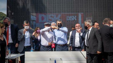 Çalışanlar 1 Mayıs'ı toplu sözleşmeyle kutladı! Tunç Soyer: Helal olsun