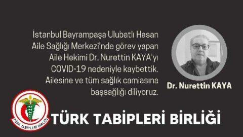 İstanbul'da aile hekimi coronadan hayatını kaybetti