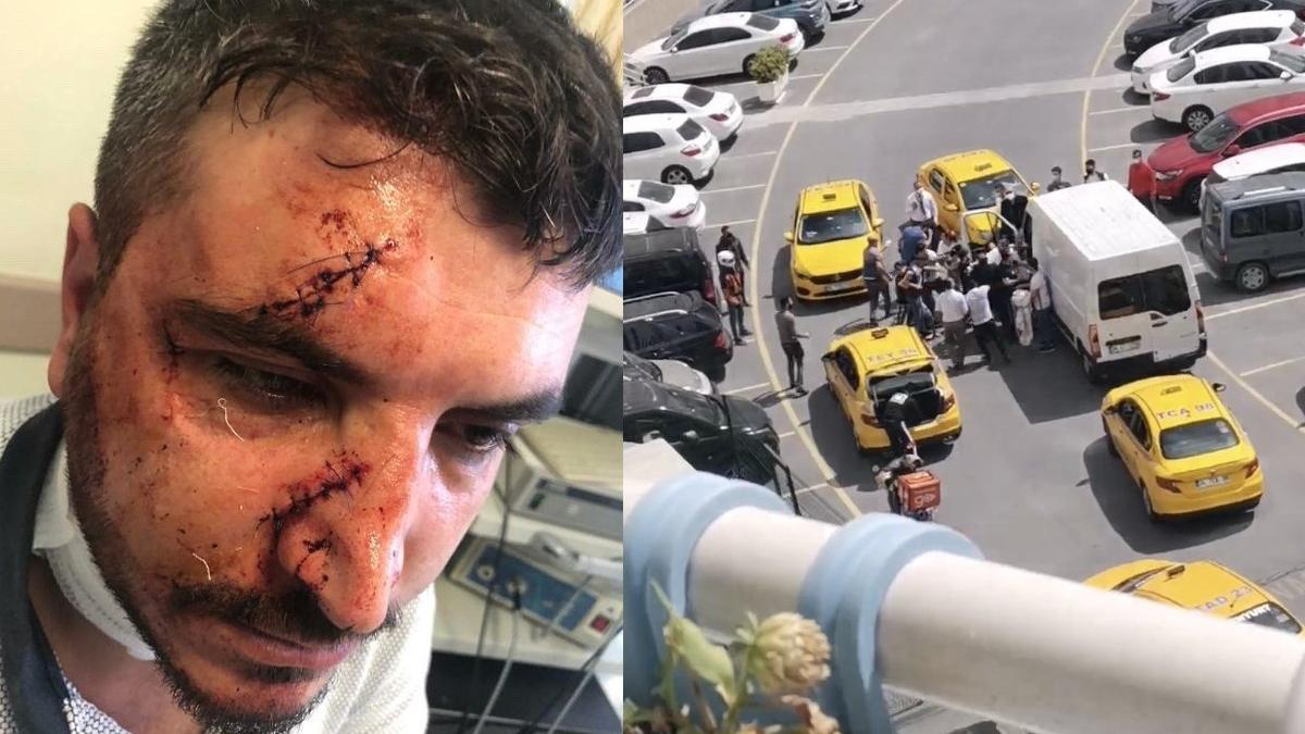 """Yol verme kavgasında taksiciyi """"Muşta"""" ile dövdü"""