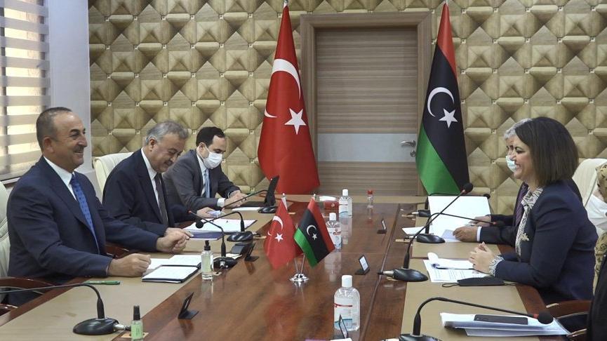 Mevlüt Çavuşoğlu: Kardeş Libya'ya desteğimizi göstermek için Trablus'tayız