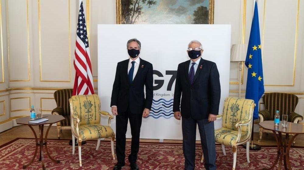 AB Yüksek Temsilcisi Borell ile ABD Dışişleri Bakanı Blinken arasında kritik görüşme