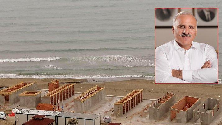 AKP'li başkandan tepki çeken beton plajla ilgi açıklama: Biraz sabır!
