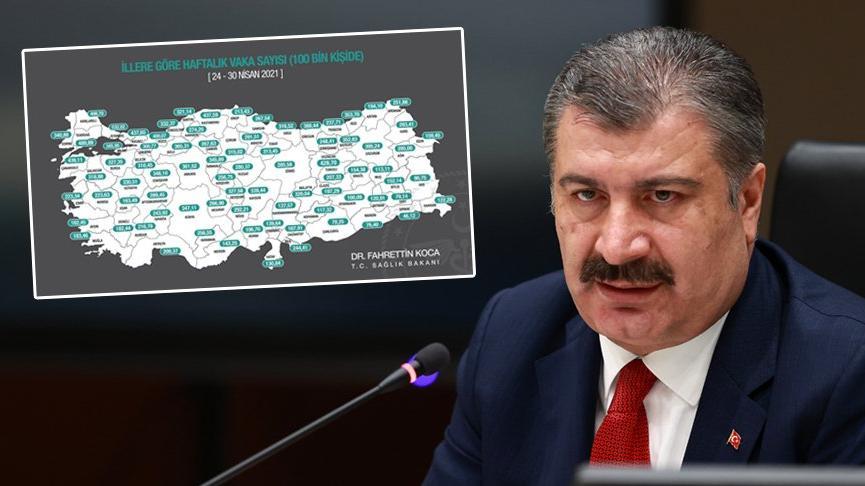 Sağlık Bakanı Fahrettin Koca il il vaka sayılarını açıkladı: İstanbul  zirvede - Son dakika haberleri