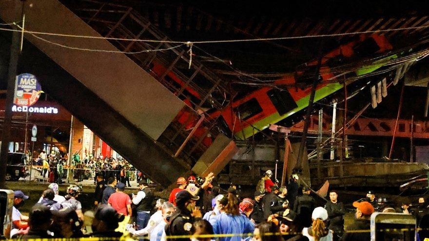 Korkunç kaza: Meksika'da metro çöktü: Onlarca ölü ve yaralı var