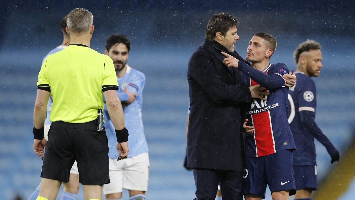 Manchester City-PSG maçında skandal iddia: 'Hakem bize küfür etti'