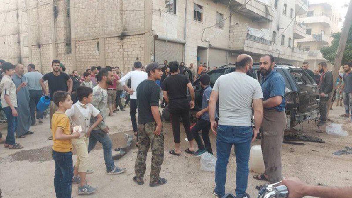 Afrin'de bombalı saldırı! 5 çocuk yaralandı