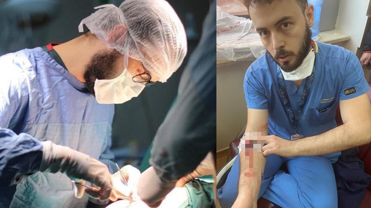 38 derece ateşle, kolunda damar yoluyla çalışan doktor darp edildi