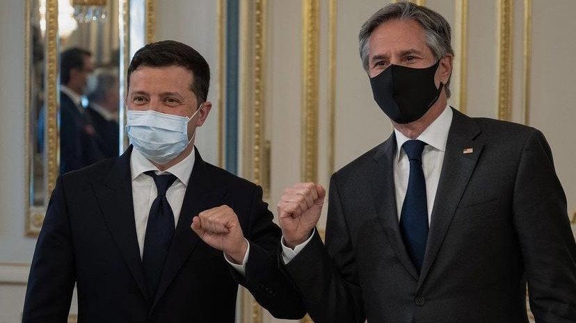 Ukrayna Devlet Başkan Zelenskiy, Blinken ile görüştü