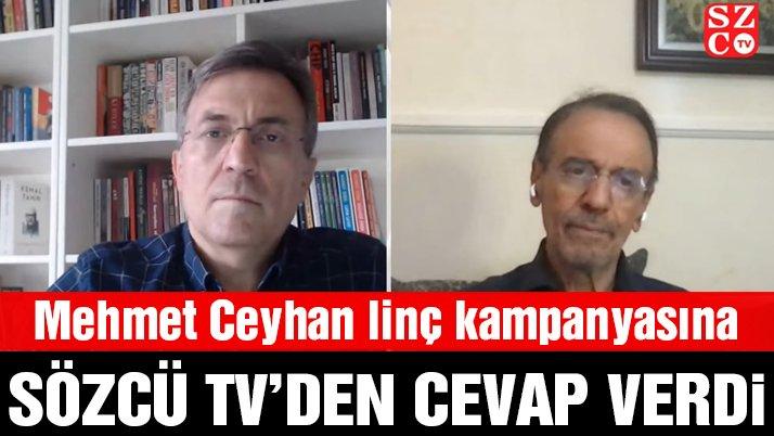 Prof. Dr. Mehmet Ceyhan linç kampanyasına SÖZCÜ TV'den cevap verdi