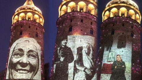 Galata Kulesi annelerin fotoğraflarıyla renklendi