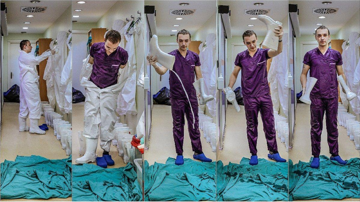 Sağlık emekçisi insan üstü mücadelelerini fotoğrafladı