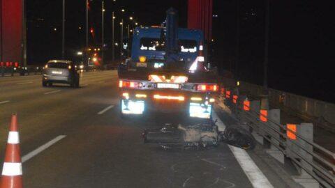 FSM Köprüsü'nde 'tek teker' can aldı