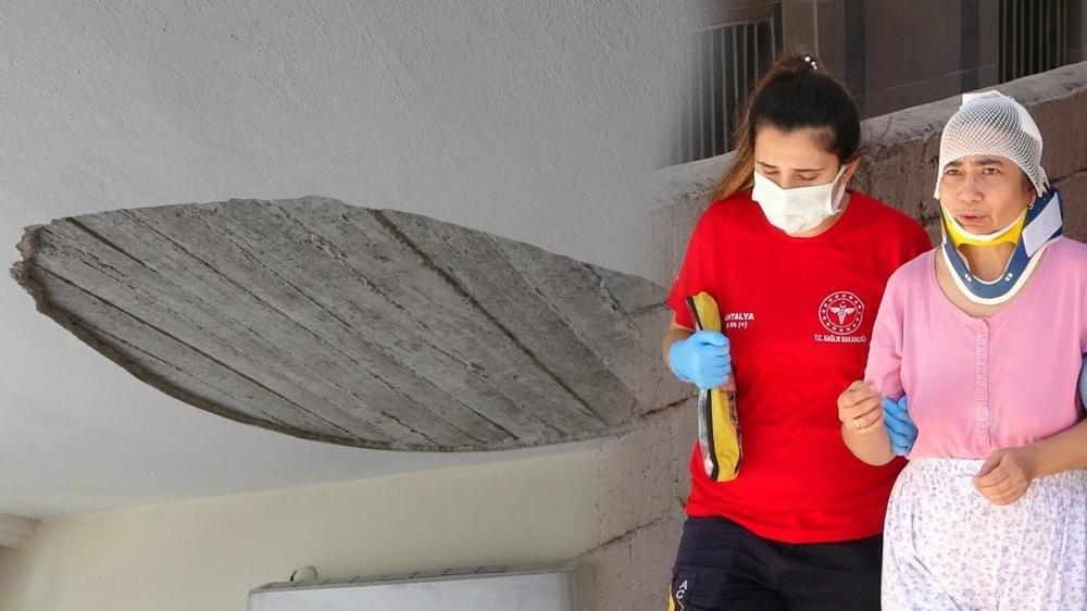 Kanepede nakış yapan kadının üzerine evin tavanı düştü