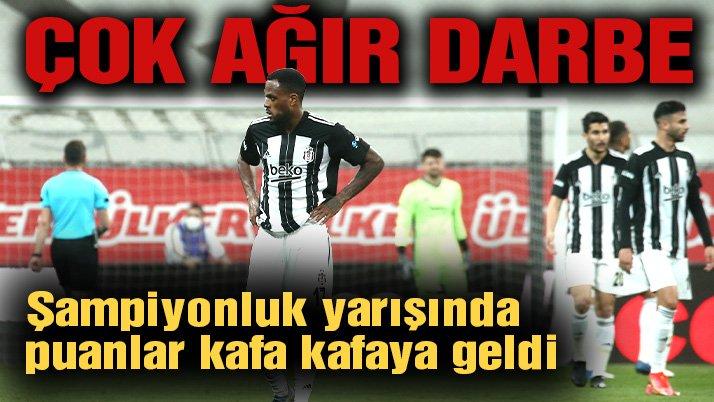 Beşiktaş Karagümrük'e mağlup oldu! Şampiyonluk yarışı son haftaya kaldı…