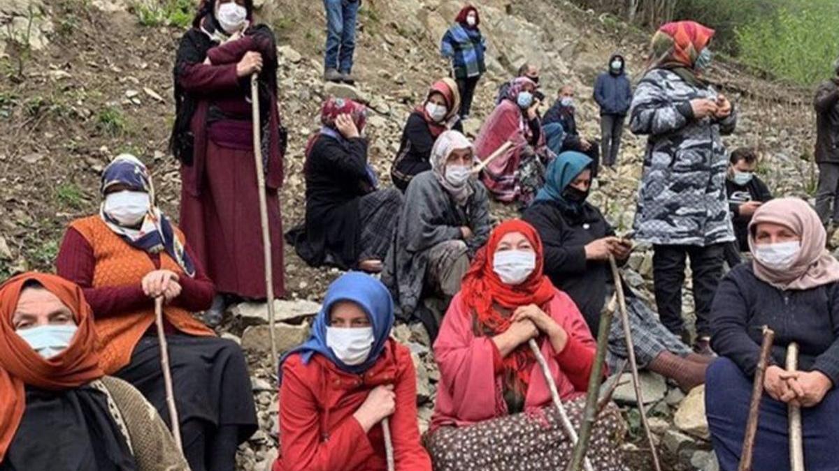 Rize'deki 11 kurum ormanı koruyan köylüleri hedef gösterdi