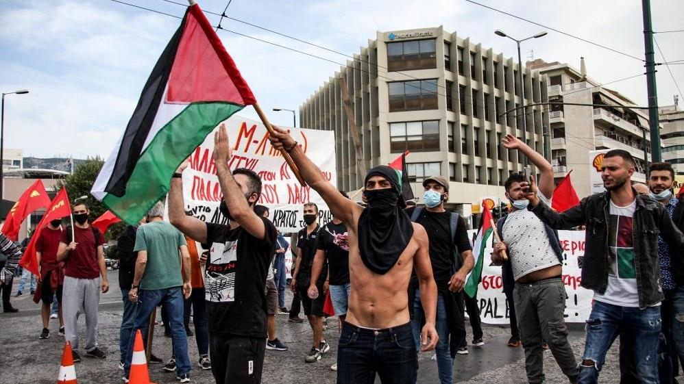 Atina ve Paris'te Filistin gösterilerine müdahale