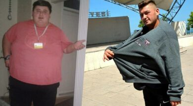 6 ayda tam 212 kilo verdi!