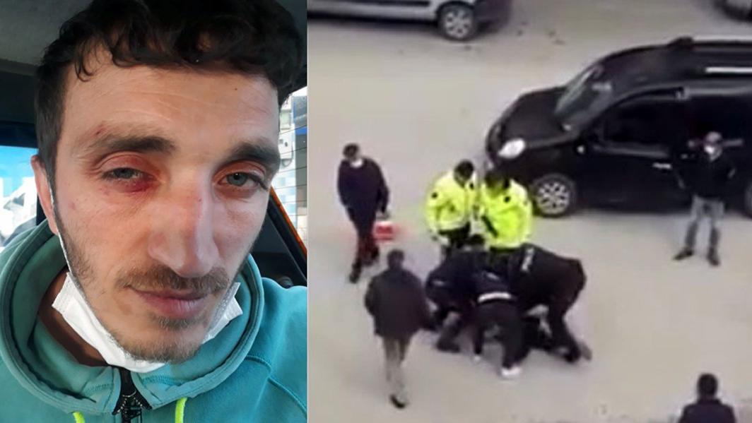 Araç kullanırken telefonla konuşan şoföre polisten dayak