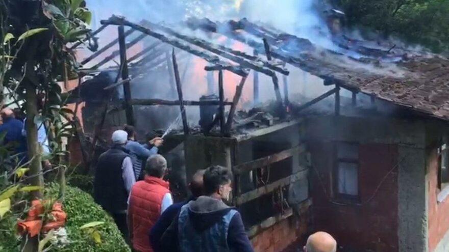 Yangın çıktı, vatandaşlar seferber oldu