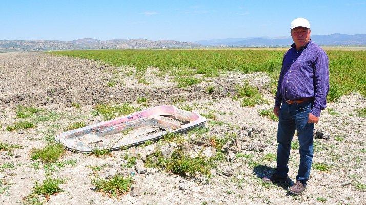 Suyu çekilen göl arazisinde usulsüz tarıma ceza