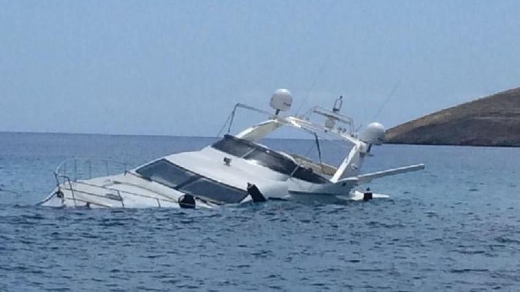 Lüks yat battı: 6 kişi balıkçılar tarafından kurtarıldı