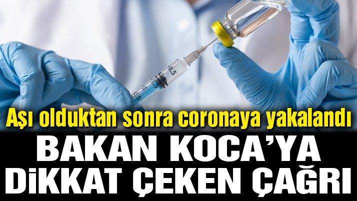 Aşı olduktan sonra coronaya yakalanan CHP'li vekilden Sağlık Bakanı Fahrettin Koca'ya dikkat çeken çağrı