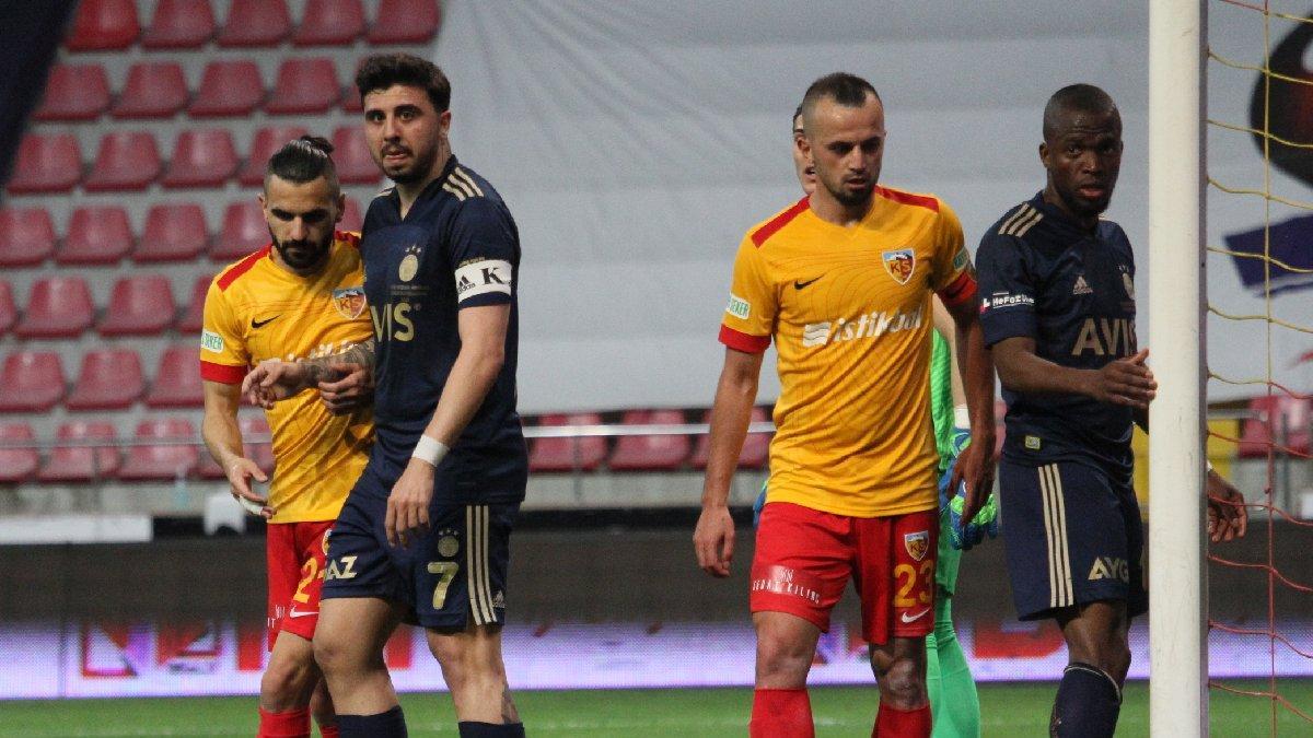Kayserispor ligde kaldı, Fenerbahçe galibiyetle bitirdi: 1-2