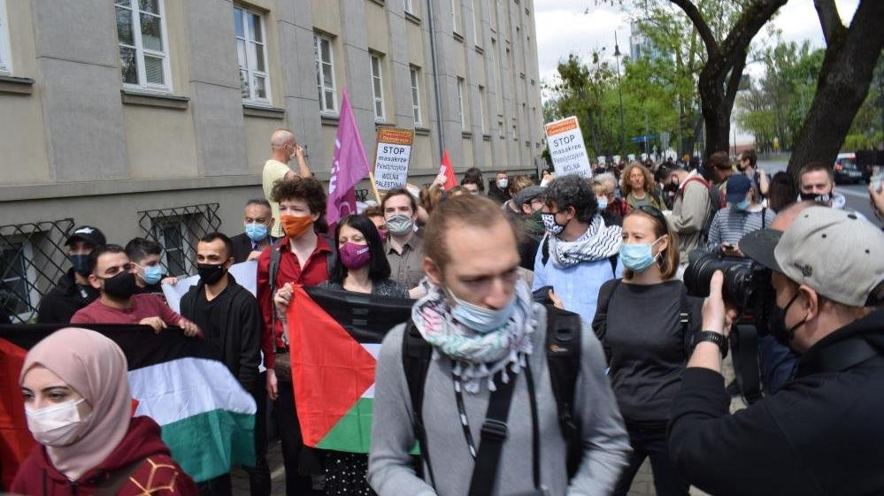 Polonya'da Filistin'e destek gösterisi
