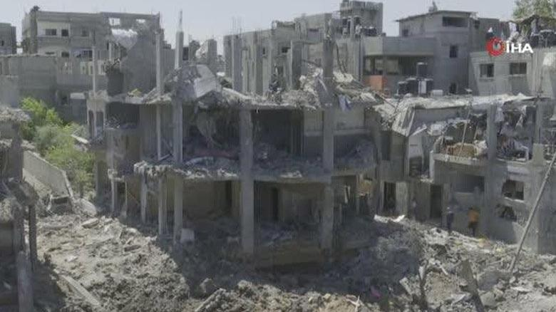 İsrail, Beyt Hanun'u vurdu! Bir bölge harabeye döndü