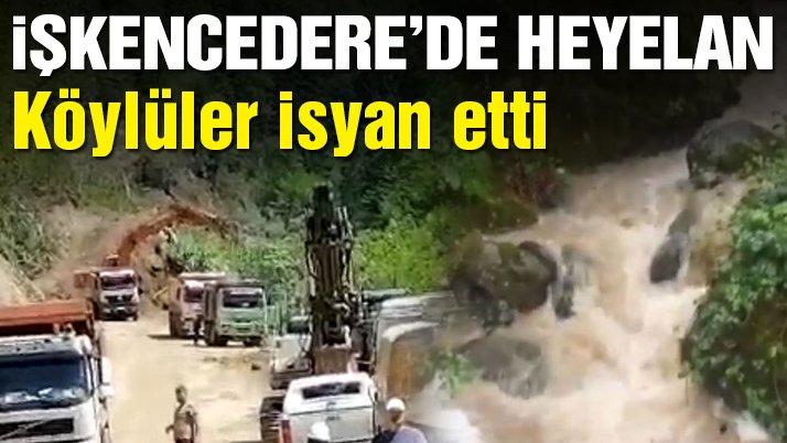 İşkencedere'de heyelan! Köylüler isyan etti