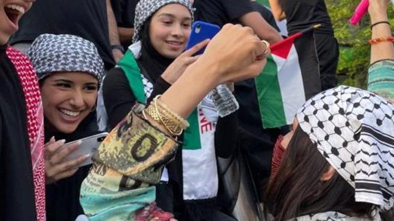 Bella Hadid'den Filistin'e destek