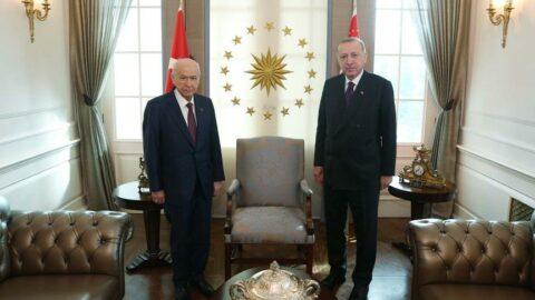 Erdoğan ile Bahçeli'den sürpriz görüşme