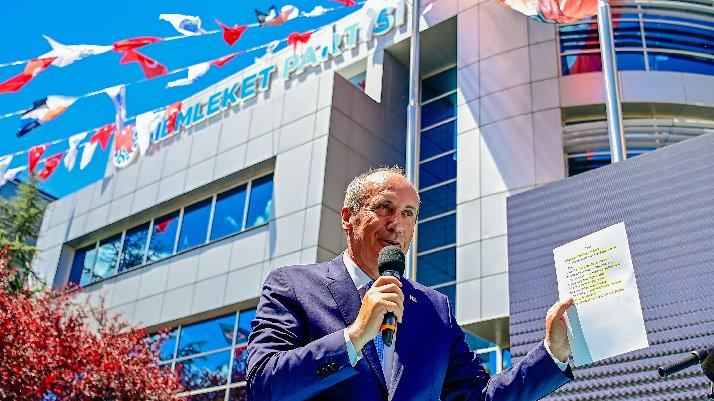 Muharrem İnce, Memleket Partisi'nin yol haritasını açıkladı