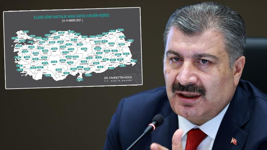 Sağlık Bakanı Koca il il vaka sayısını paylaştı! Dikkat çeken açıklama