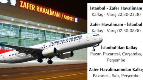 Zafer Havalimanı'nda seferler başladı