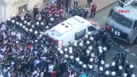 Beşiktaş'ın şampiyonluk kutlamalarında arbede