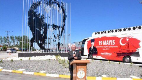 3 boyutlu Atatürk silüet açıldı