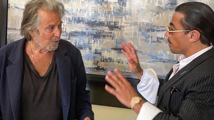Al Pacino ile Nusret buluştu