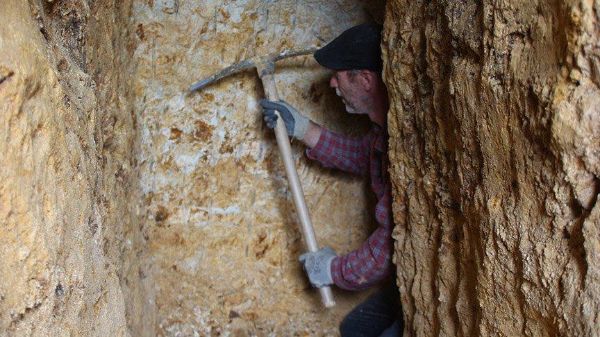 Türkiye'nin tek mağara kazıcısı