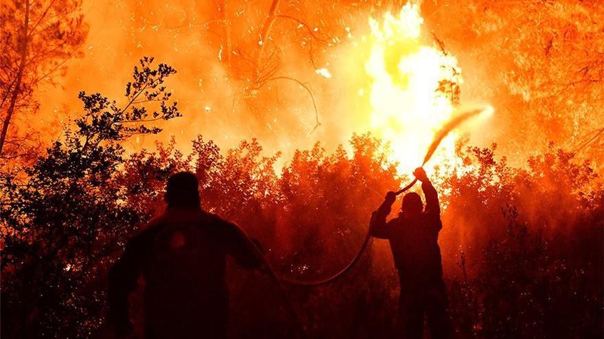 Yunanistan'daki yangında 400 hektarlık alan küle döndü