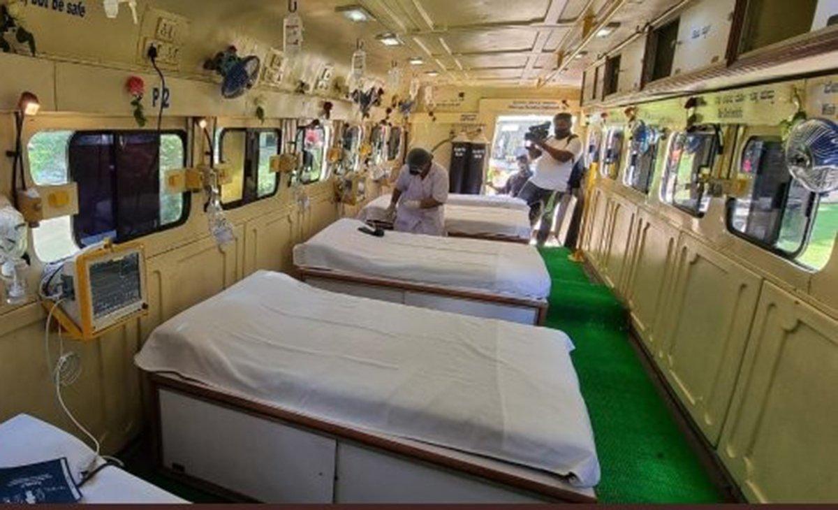Koronavirüs Hindistan'da Felakete Dönüştü Otobüsleri Yoğun Bakım Yaptılar