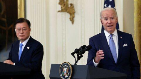 Biden'ın Beyaz Saray'da ikinci konuğu Moon Jae-in: Kuzey Kore'den endişeliyiz