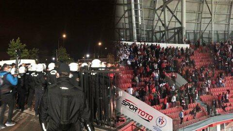 Polis ile Samsunspor taraftarı arasında arbede yaşandı