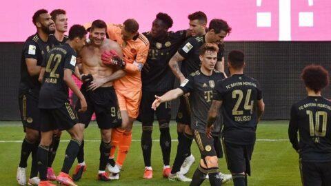 Bundesliga'da sezon tamamlandı! Lewandowski tarihe geçti, Werder Bremen'den dramatik veda!