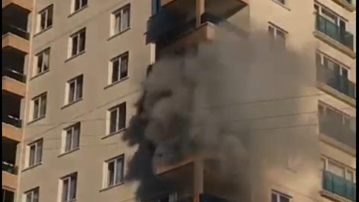 Ankara'da 11 katlı binada korkutan yangın