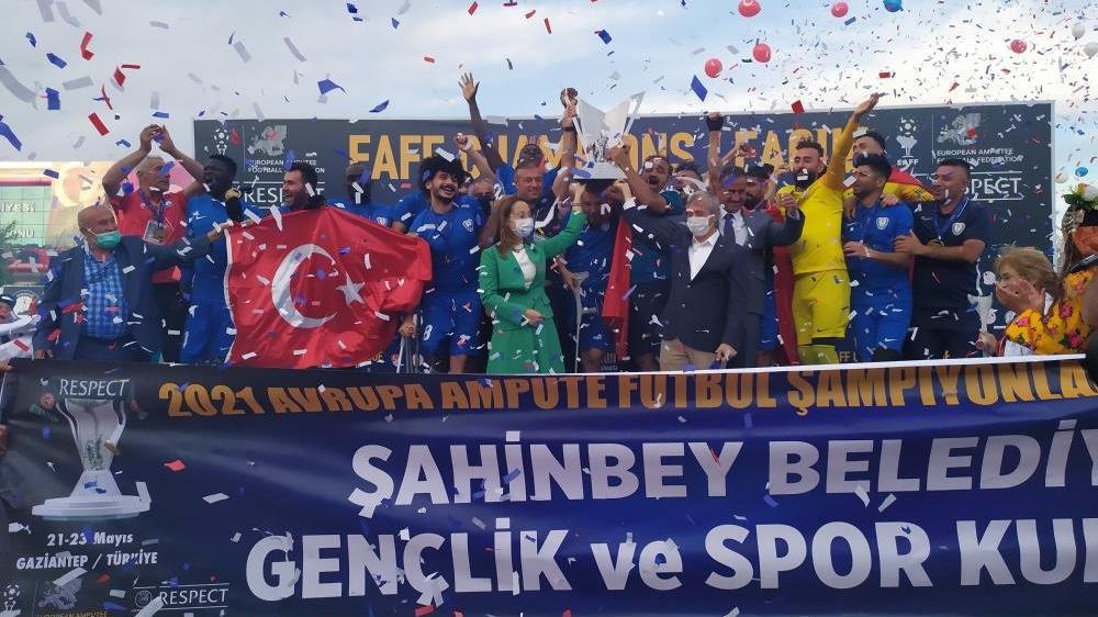 Şampiyonlar Ligi şampiyonu Şahinbey Ampute