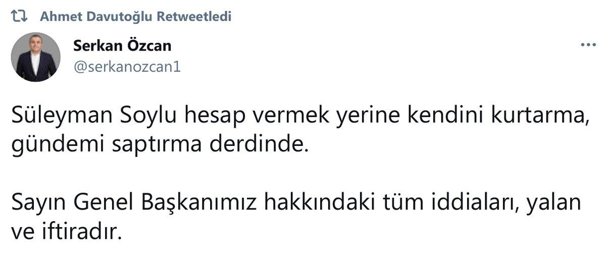 Bakan Soylu'nun Ahmet Davutoğlu iddialarına Gelecek Partisi'nden yanıt