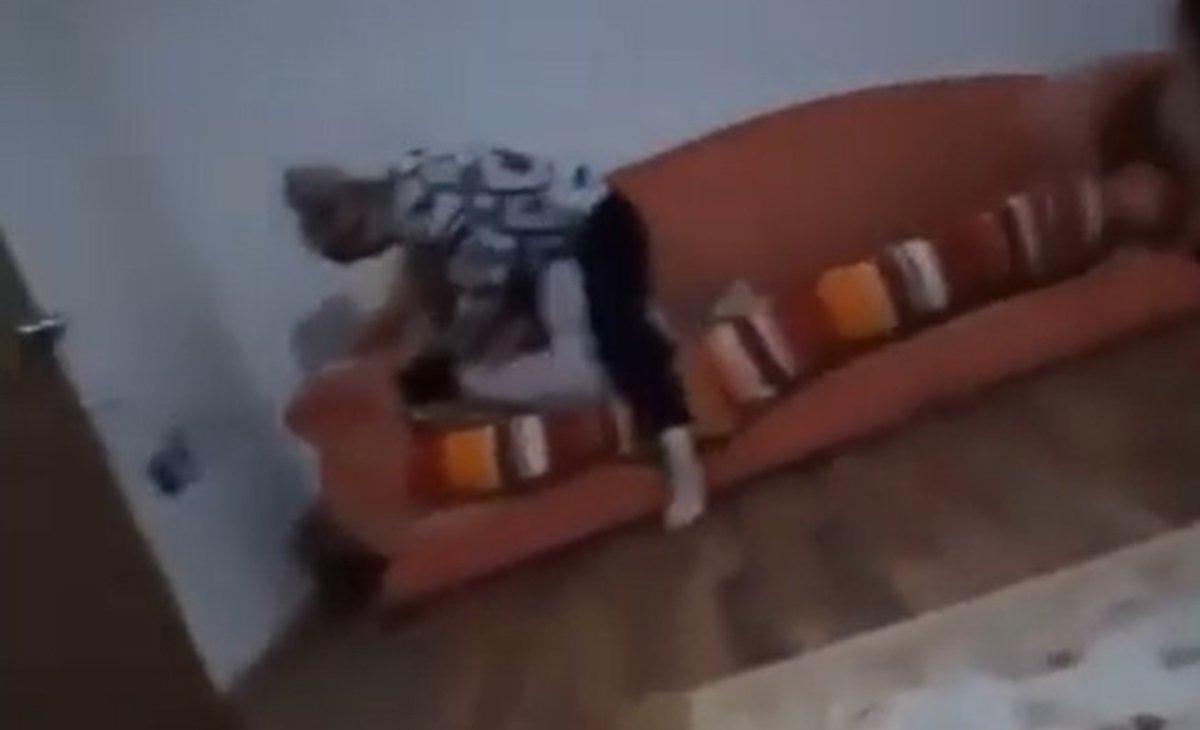 8 yaşındaki kızının ayağına sarılarak af diledi